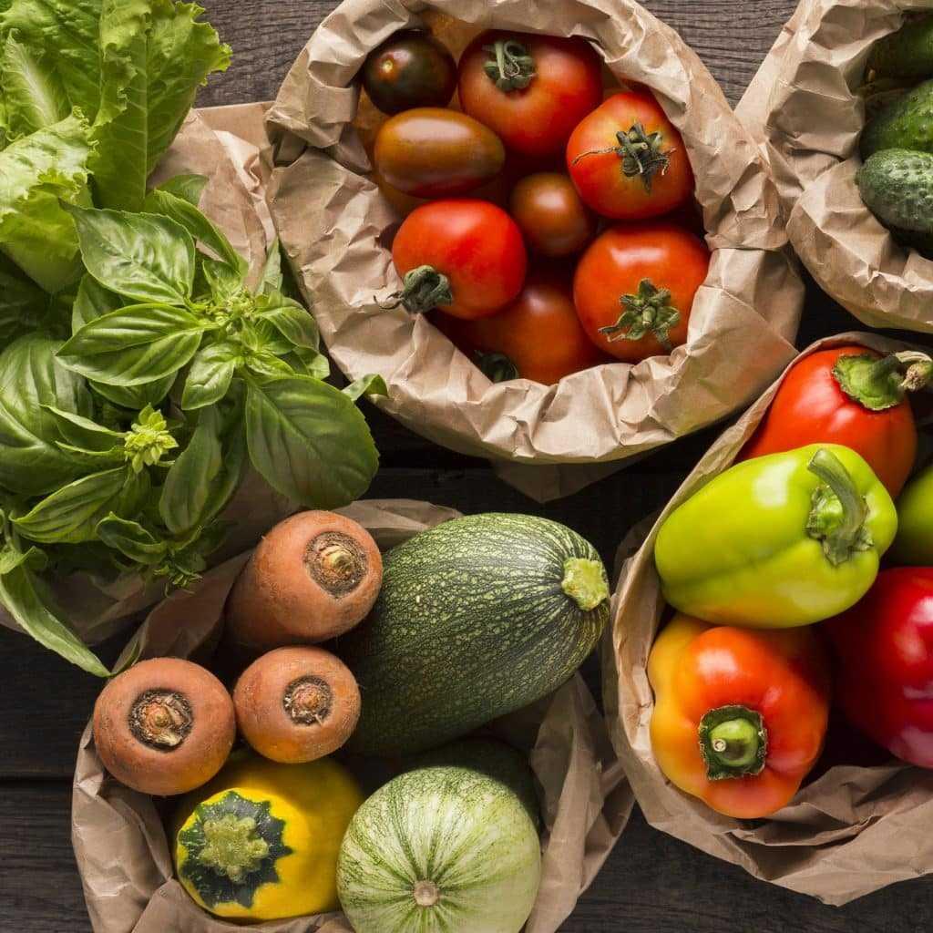 Nahaufnahme von frischem Gemüse